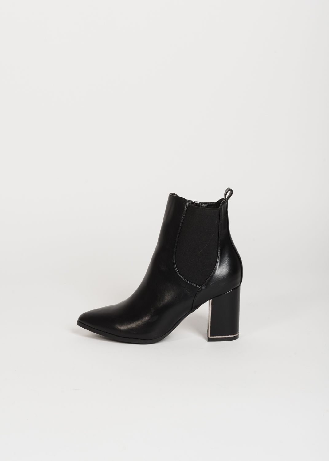 STRETCH HEELED ANKLE BOOTS