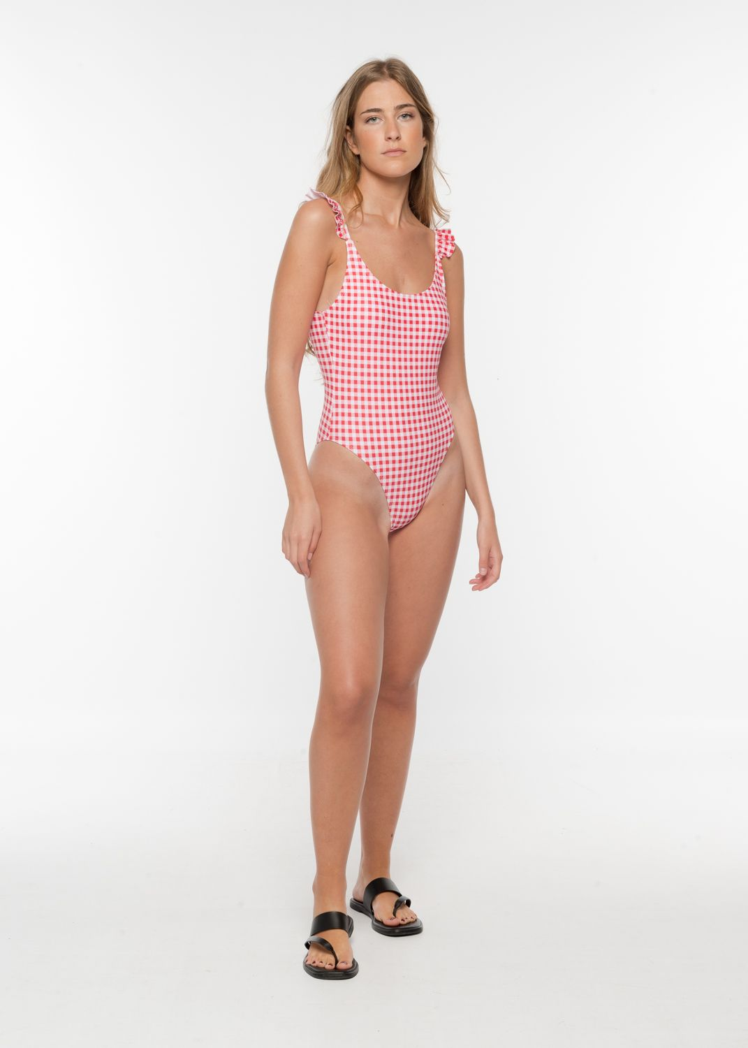 GINGHAM CHECK SWIMSUIT